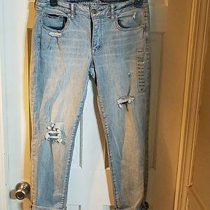 American eagle boyfriend jeans size 10